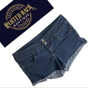 Garage Denim Cut Off Jean Shorts Button Zip Fly